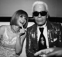 Anna Wintour Karl Lagerfeld Middle Finger by dopecinema