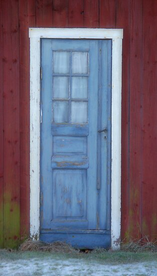 The blue door by Paola Svensson