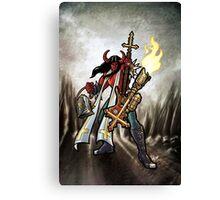 Flamethrower Guitar 002 Canvas Print