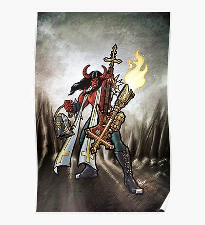 Flamethrower Guitar 002 Poster