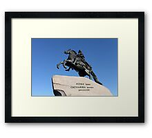 Equestrian statue of Peter the Great Framed Print