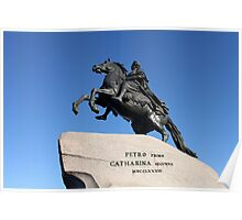 Equestrian statue of Peter the Great Poster
