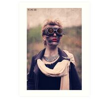 Dieselpunk Kitty Shoot - Mushroom Cloud Goggles Art Print