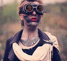 Dieselpunk Kitty Shoot - Mushroom Cloud Goggles by atomicgirl