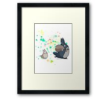 Totoro's friends colours Framed Print