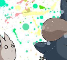 Totoro's friends colours Sticker
