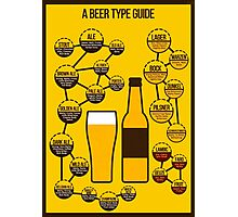 Beer Types & Flavors Photographic Print