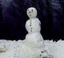 The lonely snowman by Vivi Kalomiri