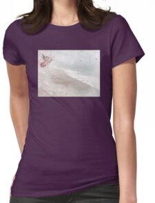 """Angels in Pink """"Merry Christmas"""" ~ Greeting Card Womens Fitted T-Shirt"""
