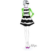 Stripes + Cardigan by pizzazzdesign