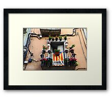 Catalan flag on the balcony  Framed Print