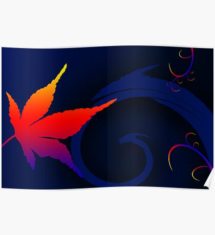 A Leaf out of colorful life Poster