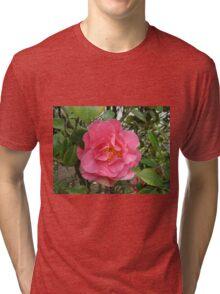 Precious Pink Summertime Camellia Tri-blend T-Shirt