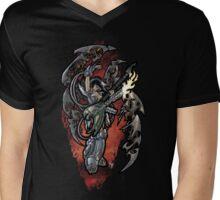 Flamethrower Guitar 001 Mens V-Neck T-Shirt