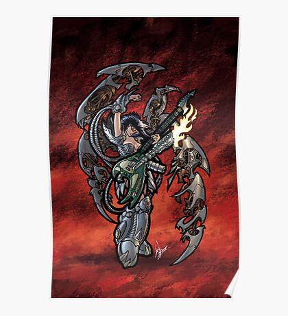Flamethrower Guitar 001 Poster