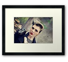 Dieselpunk Kitty Shoot - Aviatrix Stare Framed Print