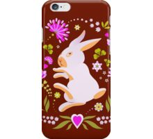 Easter Bunny on Chocolate Background iPhone Case/Skin