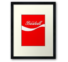 Enjoy Baseball Framed Print