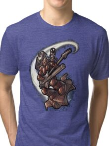 Minigun Guitar 001 Tri-blend T-Shirt