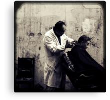 OLD SHANGHAI - My Barber, My Friend Canvas Print