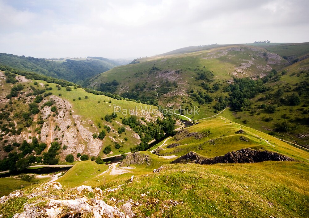 Dovedale from Thorpe Cloud by Paul Woloschuk