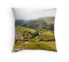 Dovedale from Thorpe Cloud Throw Pillow