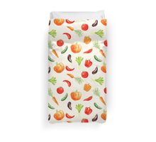 Watercolor vegetables pattern Duvet Cover