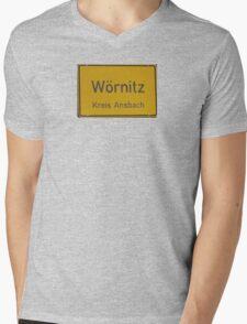 Warnitz Germany Mens V-Neck T-Shirt