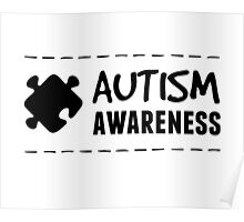 Autism Awareness in Black Poster