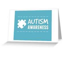 Autism Awareness in White Greeting Card