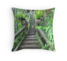 Steps, Steps, & more Steps. Paronella Park, Innisfail.Que. Throw Pillow