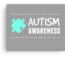 Autism Awareness in White&Blue Canvas Print