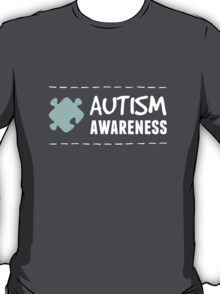 Autism Awareness in White&Blue T-Shirt