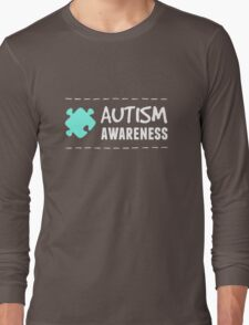 Autism Awareness in White&Blue Long Sleeve T-Shirt