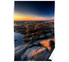 Sunset at Nash Point Poster