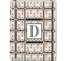 1920s Pink Champagne Gatsby Monogram letter D iPad Case/Skin
