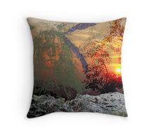 the Sioux Warrior Throw Pillow