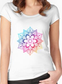 Warm Mandala Women's Fitted Scoop T-Shirt