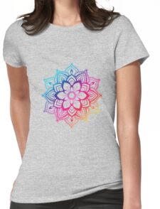 Warm Mandala Womens Fitted T-Shirt