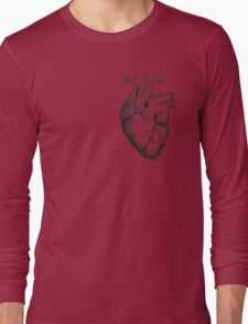 Anatomical Heart Long Sleeve T-Shirt