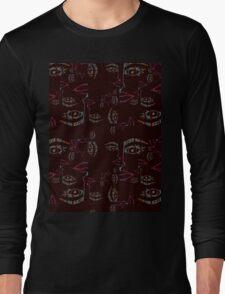 watercolor faces Long Sleeve T-Shirt