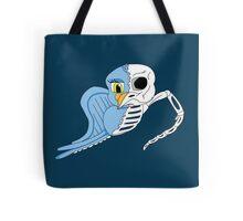 Cartoon Skeleton Bird Tote Bag