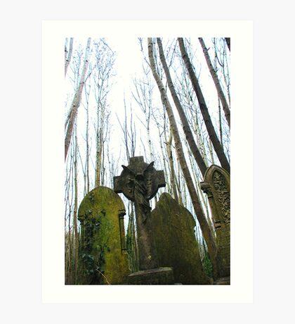 Gravestones Art Print
