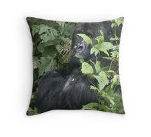 Hide And Seek ~ Gorilla Style Throw Pillow