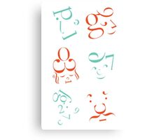 Typeface Family in Complimentary Canvas Print