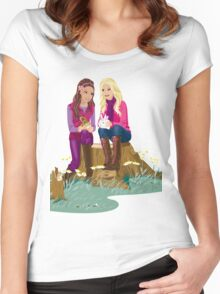 Fashion Girls Women's Fitted Scoop T-Shirt