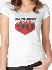 Back to the 90s Logo Women's Fitted Scoop T-Shirt