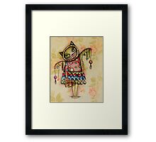 Cat art by ANGIECLEMENTINE Framed Print