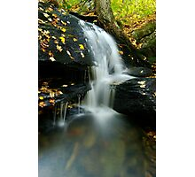A Small Falls in Autumn Photographic Print