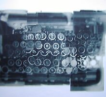 Writing Machine Keyboard Collage by welcome2alville